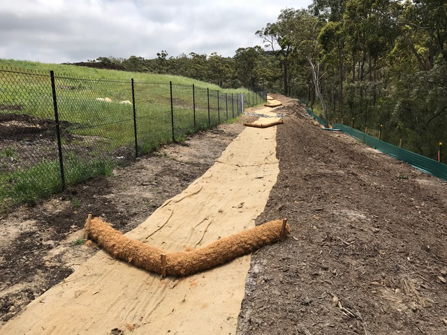 Hindside Siltation Solutions Coir Log Supply and Installation NSW Central Coast Sydney Newcastle